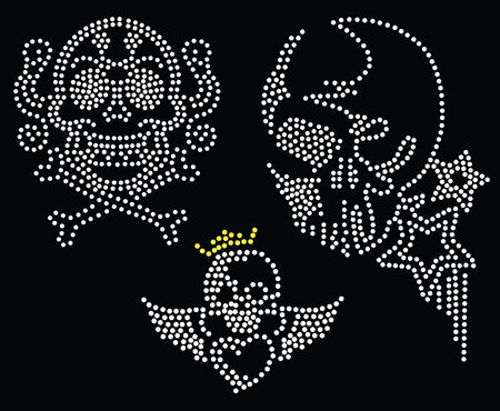 skull beaded collection Vector