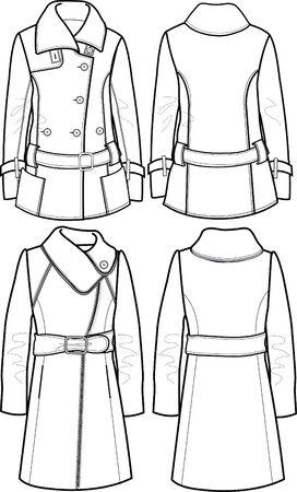 lady wool jacket Stock Vector - 5589628