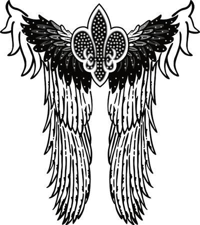 tattoo girl: Angel parche s�mbolo real
