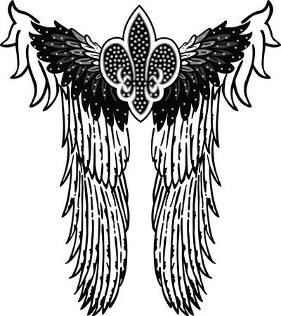 angel royal symbol patch Vector