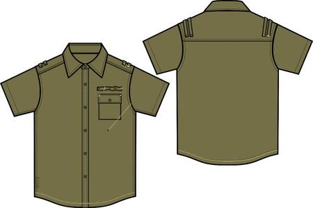 boy military shirts Vector