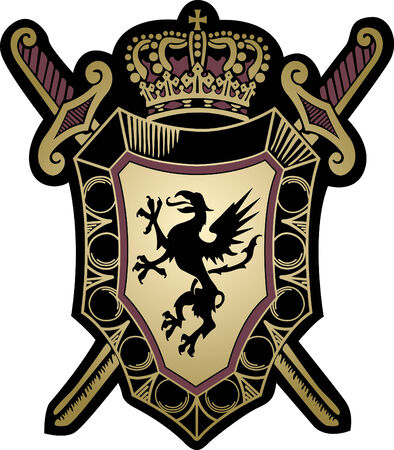 military shield design Vector