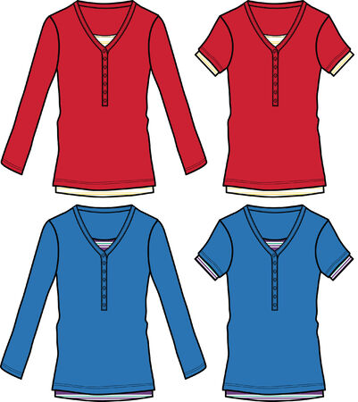 tee shirt template: casual top illustration