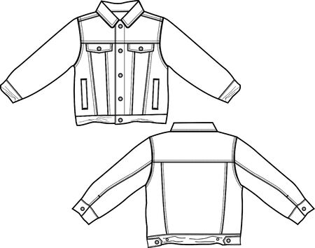 boy denim jacket Vector