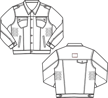 denim jacket: boy denim jacket