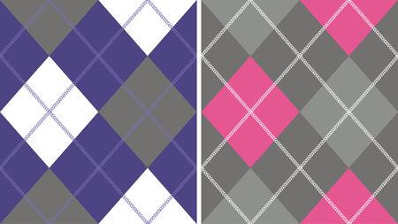 diamond check pattern Vector
