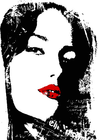 woman close up poster