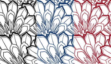 filling line: fancy seamless flower pattern