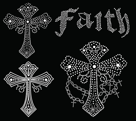 cross beaded collection Vector