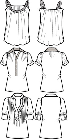 lady fashion tops Vector