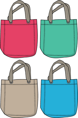 fashion handbag illustration Vector