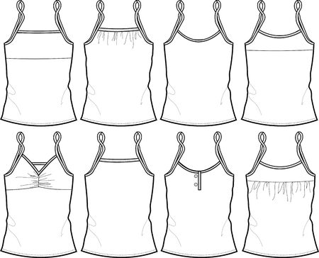 lady vest in different style Vector