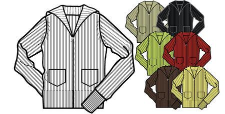 zip up sweater Vector
