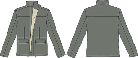 men jackets Vector