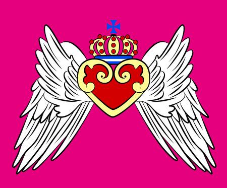 life jacket: vintage crown emblem Illustration