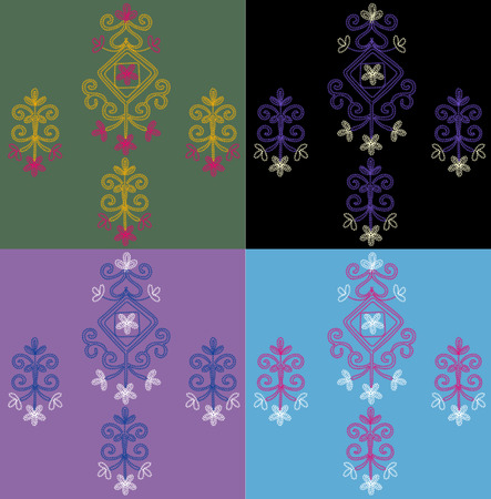 alhambra: embroidery element design