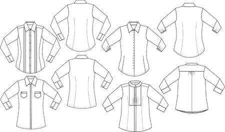 lady formal shirts Vektoros illusztráció