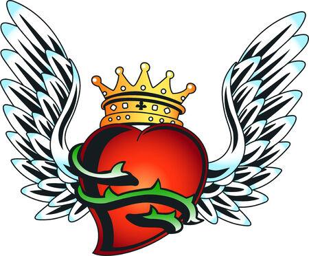 seasonal greeting: seasonal greeting royal heart emblem