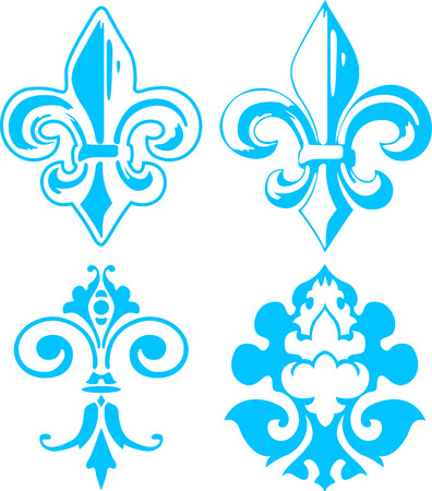 fleur de lis elements Stock Vector - 6114947