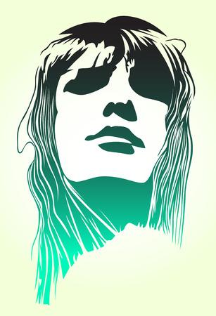 portrait du pop art femme  Vecteurs