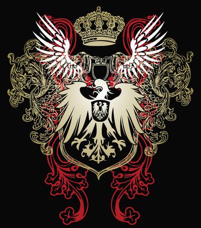 heraldic eagle emblem Vector