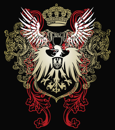 myth: heraldic eagle emblem