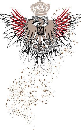 heraldic eagle emblem with splatter details Stock Vector - 6114956