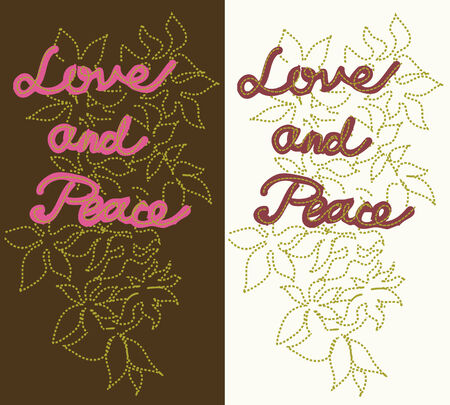 love and peace patch Stock Vector - 6231709