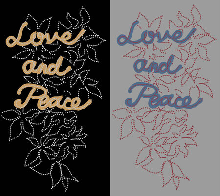 love and peace patch Stock Vector - 6231707