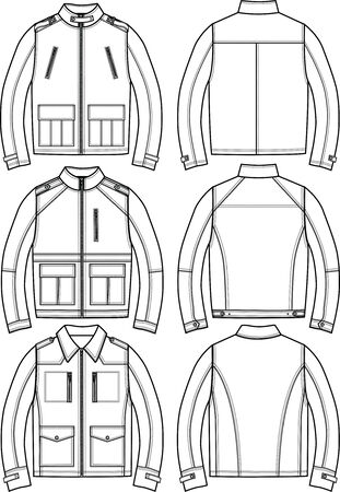 mens leather jackets Vector