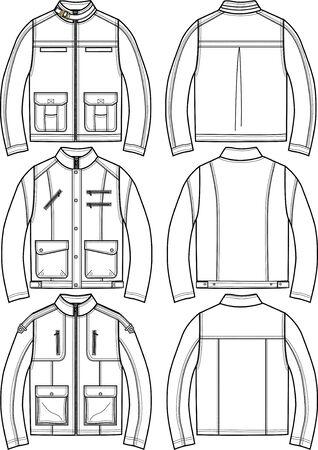 bata blanca: chaquetas de cuero de mens