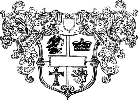coat of arms shield: royalty shield