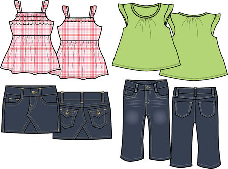 kids fashion set Vector