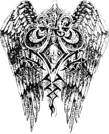 fleur de lis with wing