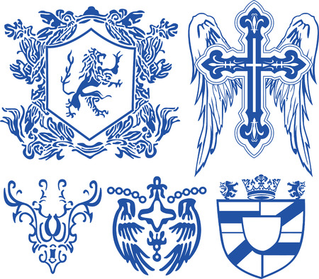 cross and eagle: vintage heraldic royal element