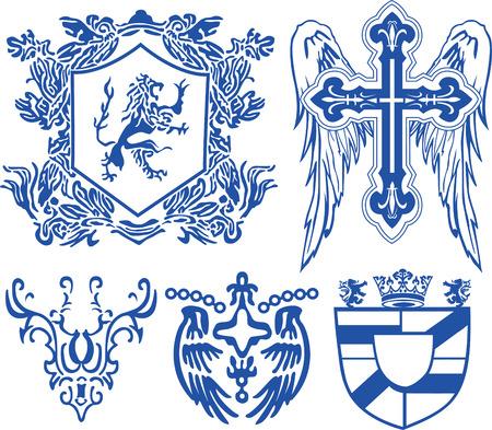 affliction: vintage heraldic royal element