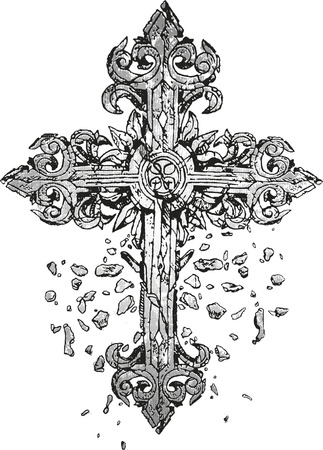 miracles: classic cross illustration