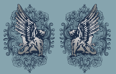 griffin illustration Vector