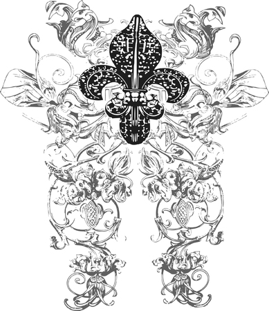 milagros: decoraci�n de flor de lis Vectores