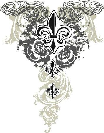 fleur: fleur de lis decoration Illustration