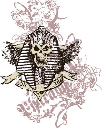 vellum: tribale antico faraone re  Vettoriali