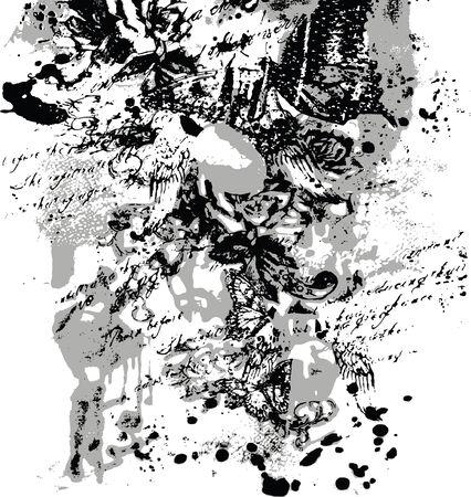Fondo de angustia floral Foto de archivo - 6590159