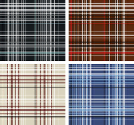 woven surface: Seamless plaid fabric pattern background