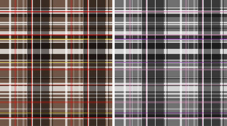 checked: Seamless plaid fabric pattern background