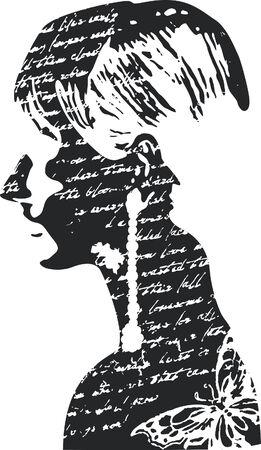 Frau illustration Standard-Bild - 6583675
