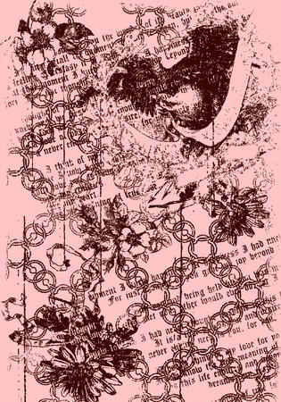 bannière tribal coeur avec arrière-plan bouleversée Vecteurs