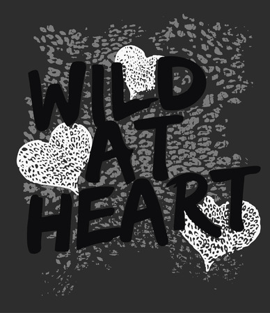 heart with animal print Vector