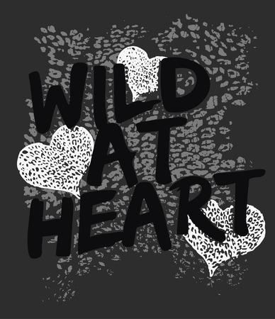 heart with animal print