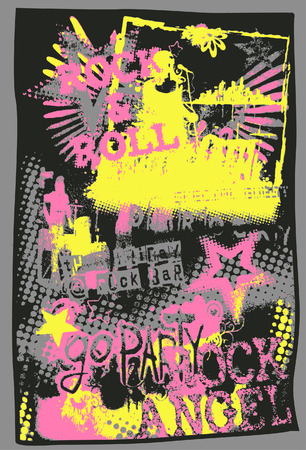 punk: music pop art poster Illustration