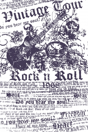 music rock and roll Stock Vector - 6590552